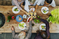 Cafe Diverse Casual Friendship Relaxation Group Concept royalty free stock images