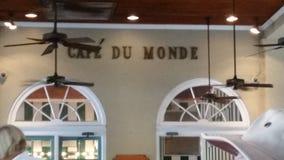 Cafe Du Monde Royaltyfri Fotografi