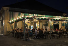Cafe Du Monde at Night in New Orleans, Louisiana Royalty Free Stock Photo