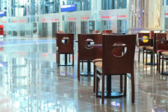 Airport cafe Stock Photography