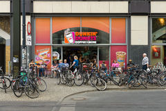 Cafe Dunkin Donuts on Alexanderplatz Stock Photo
