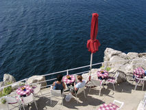 Cafe on the Edge (Croatia) Royalty Free Stock Photos