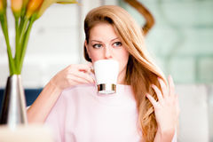 In cafe Royalty Free Stock Images