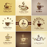Cafe emblem collection Royalty Free Stock Images