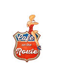 Cafe en Route Stock Image