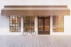 Cafe entrance, toned Stock Image