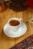 Cafe Espresso. Espresso coffee in white cup stock image