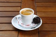 Cafe Espresso. Espresso coffee in white cup stock photo