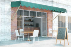 Cafe exterior from the side Royalty Free Stock Photo