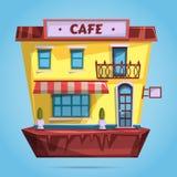 Cafe facade. Flat design Royalty Free Stock Image