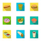 Cafe, fast, picnic and other web icon in flat style.Leg, chicken, meat, icons in set collection. Cafe, fast, picnic and other  icon in flat style.Leg, chicken Stock Photo
