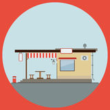 Cafe flat vector illustration Stock Image
