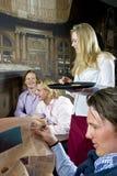 Cafe flirt royalty free stock photo