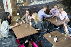 Cafe flirting Royalty Free Stock Images