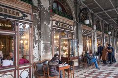 Cafe Florian, St. Mark`s Square, Venice, Italy stock image