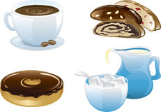 Cafe food icons Royalty Free Stock Photo