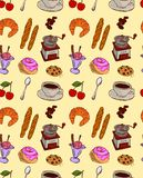 Cafe food pattern Stock Image