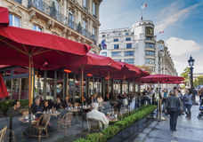 Cafe Fouquet. Cafe and restaurant Fouquet located on the Champs Elysee, Paris, France Royalty Free Stock Photo