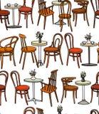 Cafe furniture pattern Stock Images