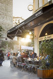 Cafe in Galata tower Stock Photography