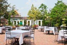 Cafe in the garden Royalty Free Stock Photos
