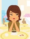 Cafe girl Stock Image