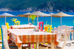 Cafe in Greece Royalty Free Stock Image