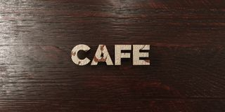 Cafe - grungy wooden headline on Maple  - 3D rendered royalty free stock image Stock Photos