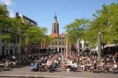 cafe hague holland Royaltyfri Fotografi