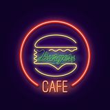 Cafe hamburgare royaltyfri illustrationer