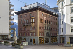 Cafe Hanselmann in St. Moritz Stock Photo