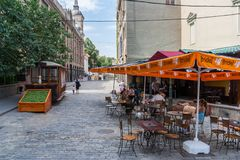 Cafe in the historic center of Tbilisi Royalty Free Stock Photos