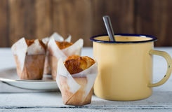 Cafe with homemade muffins Royalty Free Stock Photography