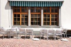 cafe i stadens centrum zurich Arkivfoton