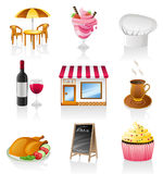 Cafe icon set. Stock Image