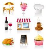 Cafe icon set. Vector cafe icon set isolated on white background Stock Image