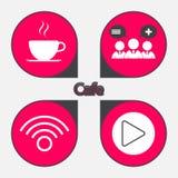 Cafe icon set Stock Photo