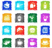Cafe icon set Stock Images