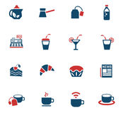 Cafe icon set Royalty Free Stock Image