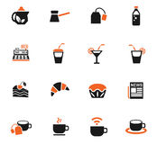 Cafe icon set Stock Photos