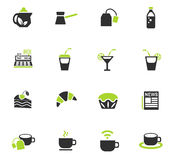 Cafe icon set Stock Photo