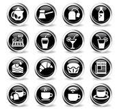 Cafe icon set Royalty Free Stock Photos