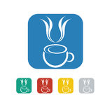 Cafe icon and vector logo Royalty Free Stock Images