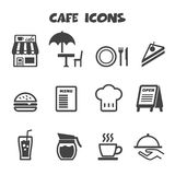 Cafe icons Royalty Free Stock Photography