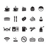 Cafe icons set Stock Image