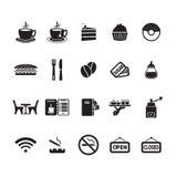 Cafe icons set Stock Image