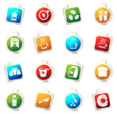 Cafe icons set Stock Images