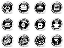 Cafe Icons set Royalty Free Stock Images