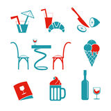 Cafe icons Set for web Royalty Free Stock Image