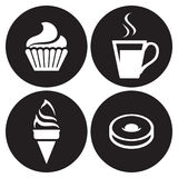 Cafe icons set Royalty Free Stock Image